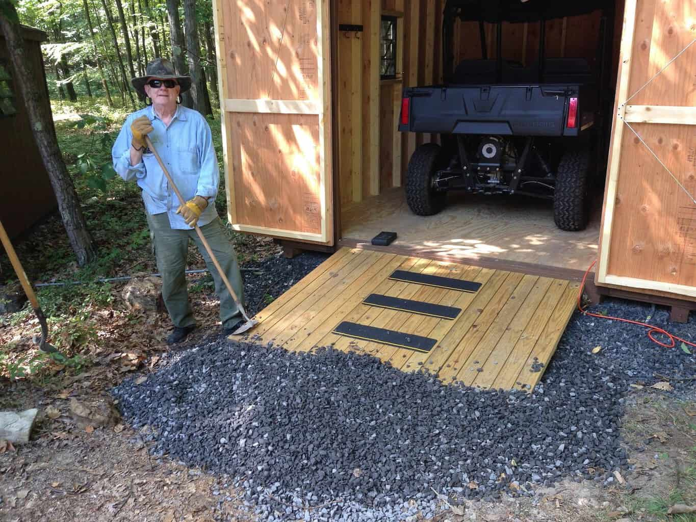 How To Build A Ramp For A Shed Sawshub