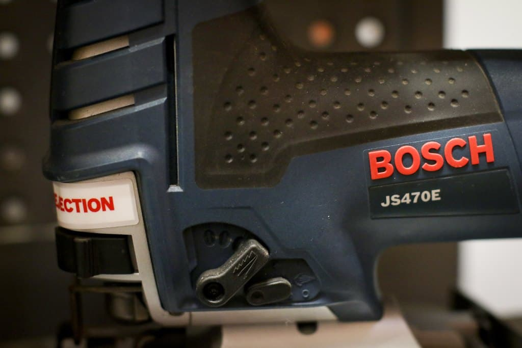 Close up of the Bosch js470e jig saw