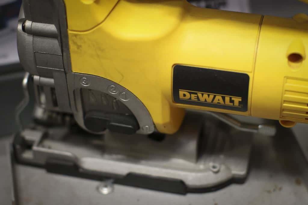 Yellow powerful dewalt jig saw