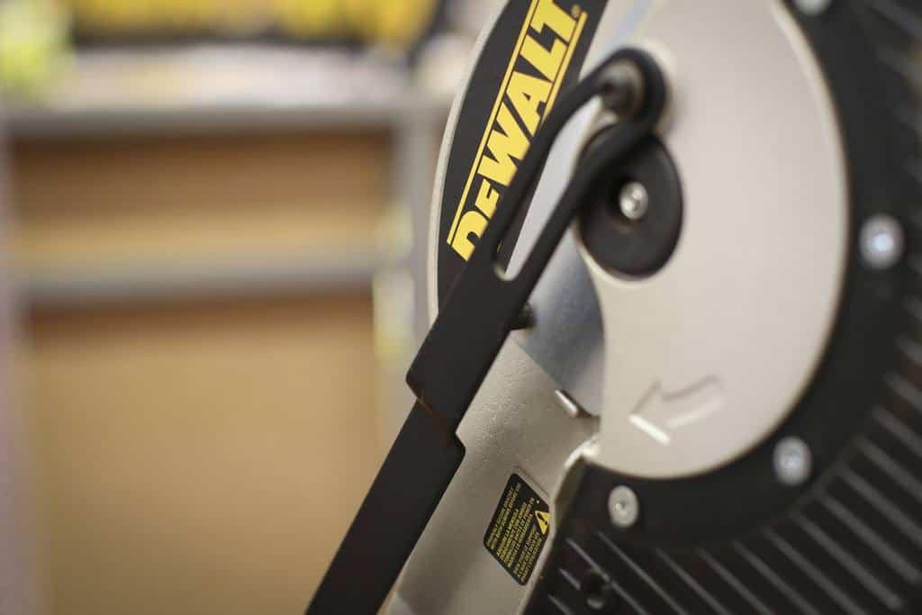 Close up best dewalt miter saw