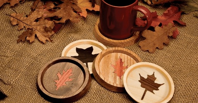 autumn leaves coaster scroll saw free template