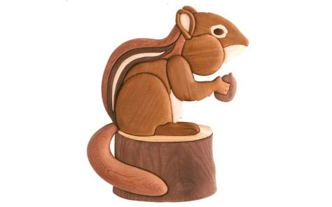 chipmunk intarsia wooden scroll saw template free