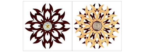 scroll saw pattern tribal clock free template