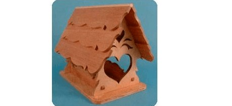 scroll pattern bird house free template