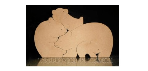 bear puzzle free scroll saw template