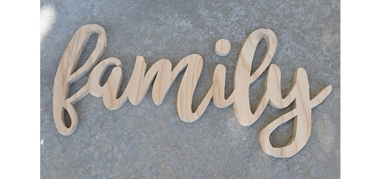 wooden family sign scroll saw free template