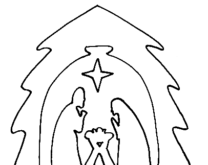Nativity template from the holidays for woodworking