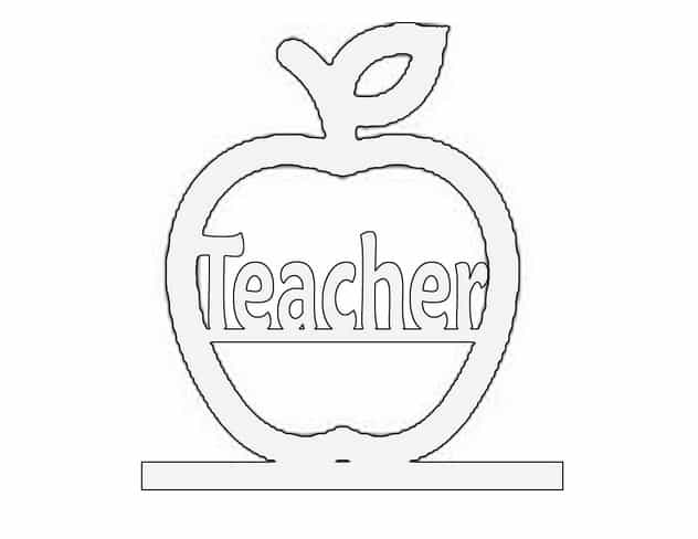 Teacher's apple sign