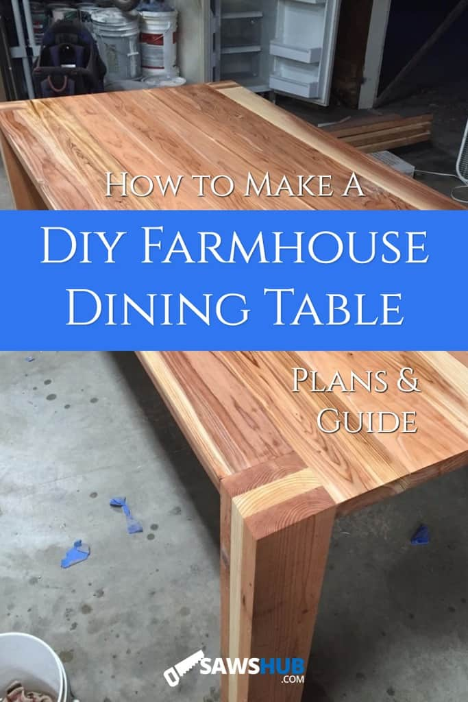 Cover image for how to make a DIY farmhouse dining table, plans and guide