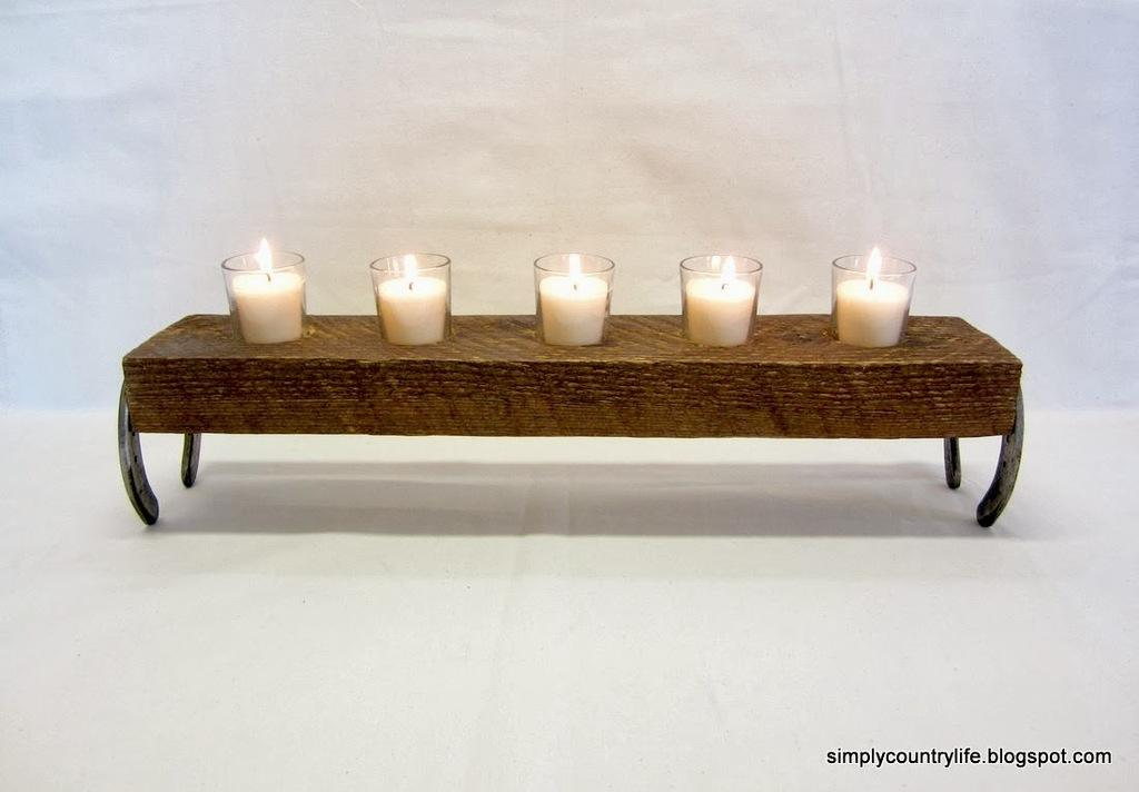 Wooden tealight candle