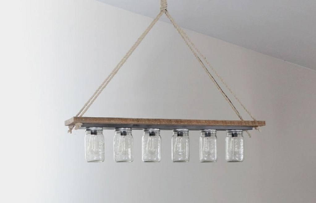 Maosn jar chandelier