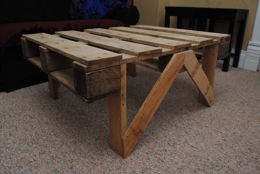 Folding pallet table