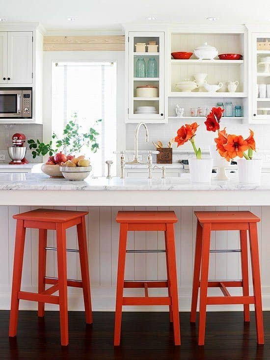 Bright colored stool