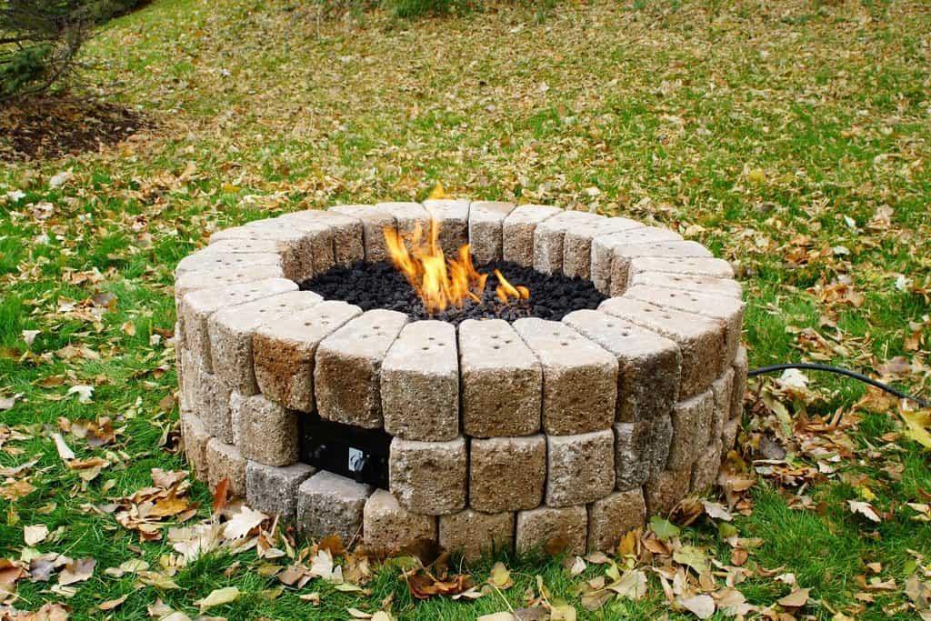 Stne fireplace