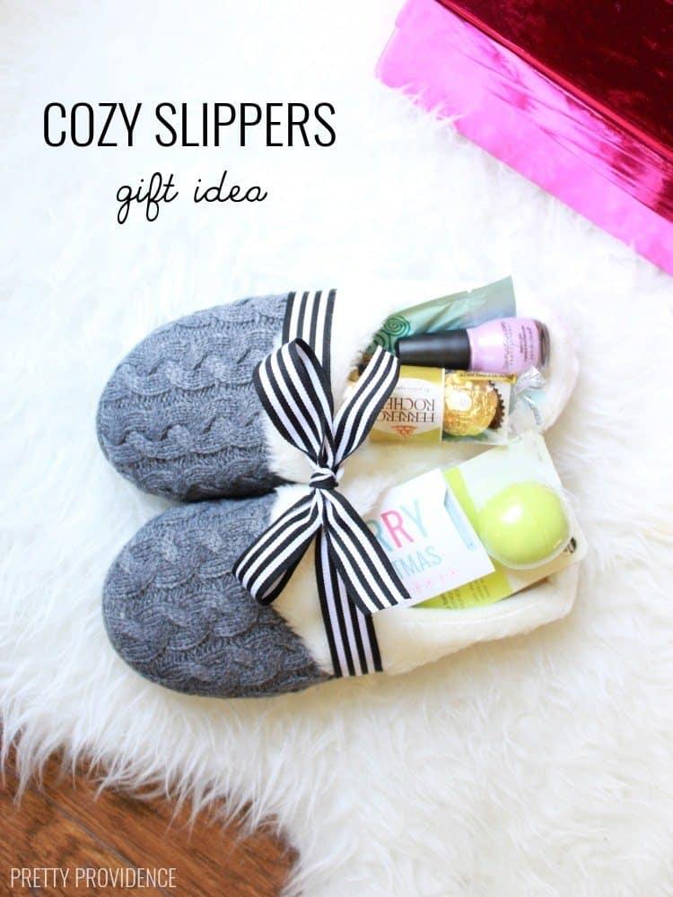 Fluffy gift slippers
