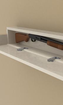 Discreet gun holder
