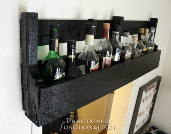 Wine rack out of pallets