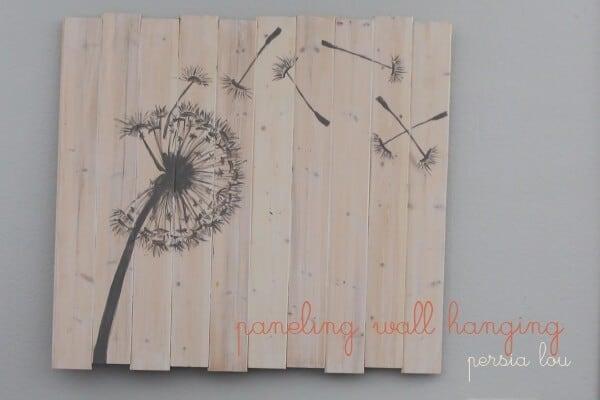Flower pallet sign