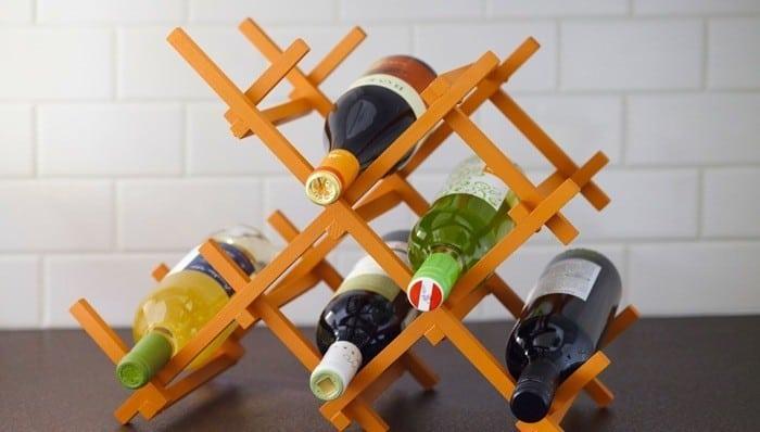 Wooden cross wine rack