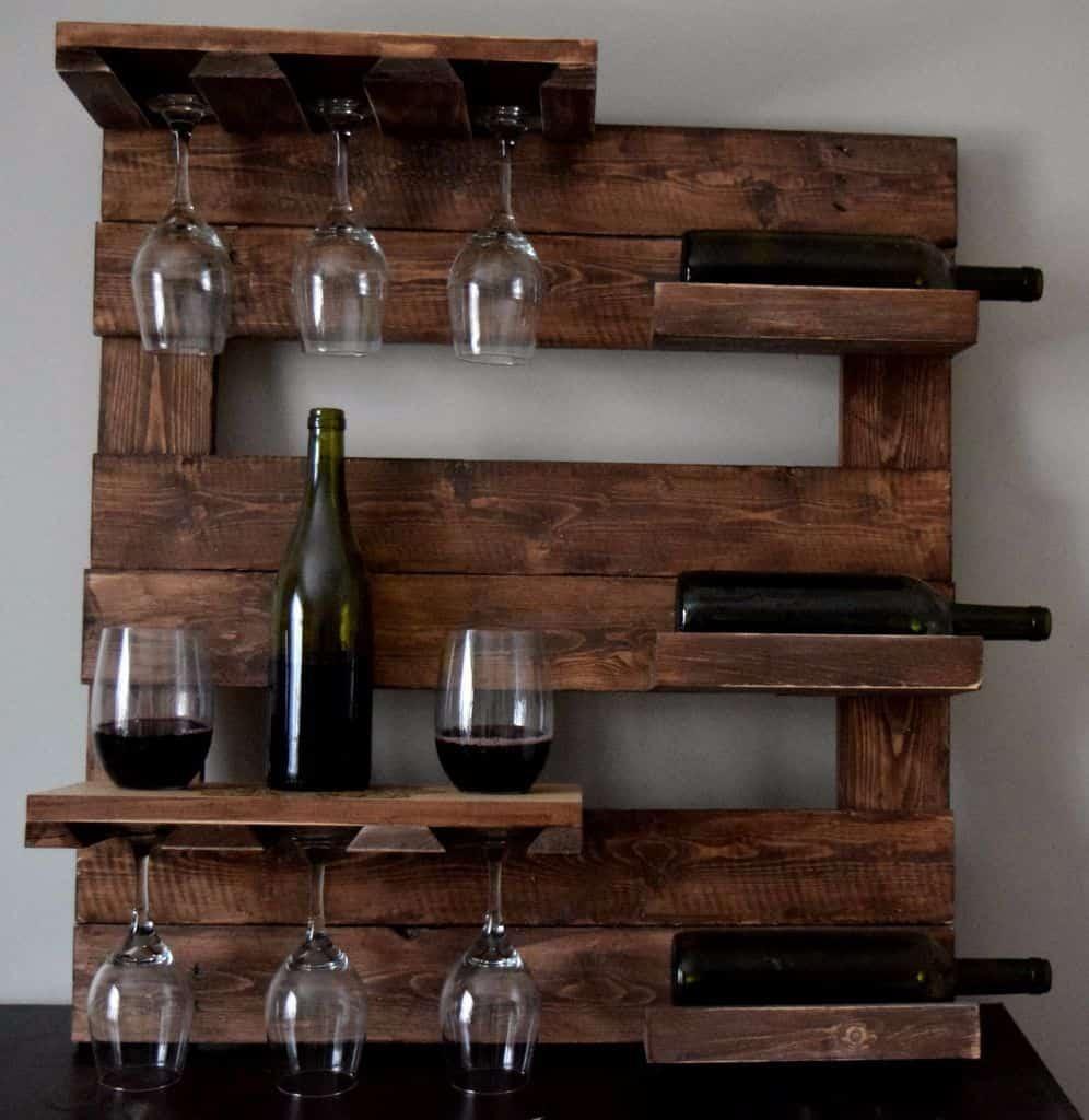 Farm house wine rack