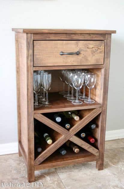 End table wine rack