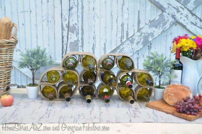 Clover shaped wine rack