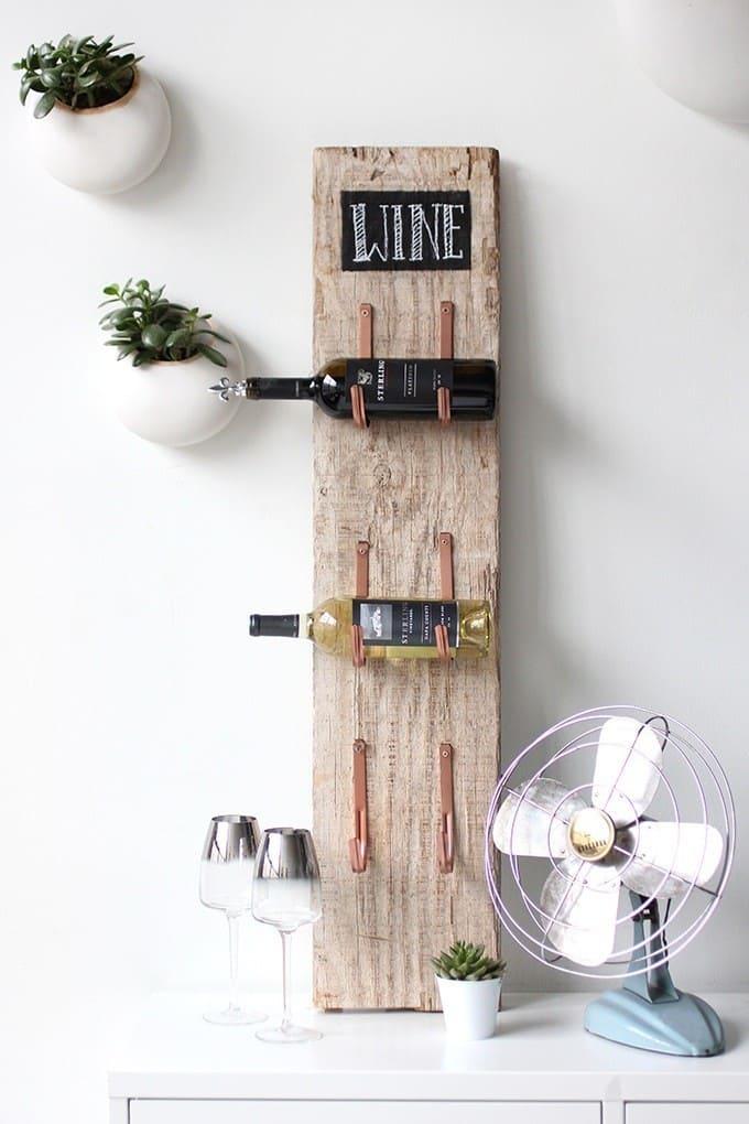 Simple rustic wine rack