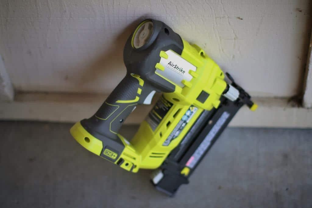 A yellow Brad Nailer