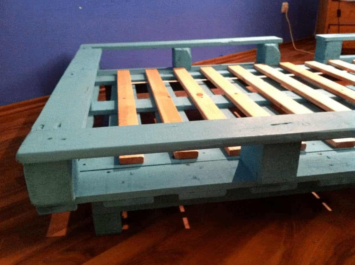 Blue allet bed frame