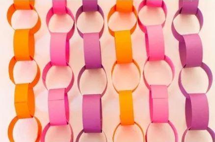 Paper chain bacldrop