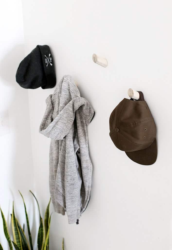 Black and white hat racks