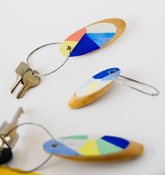 Geometric keychain