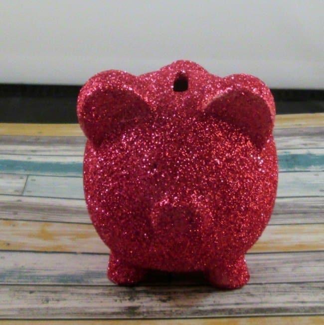 Gltter piggy bank