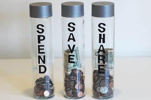 Bottled water piggy bank