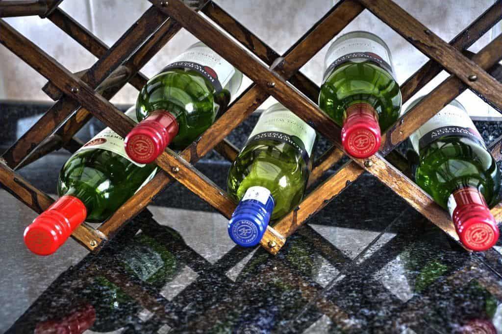 Wine racks with plenty of bottles