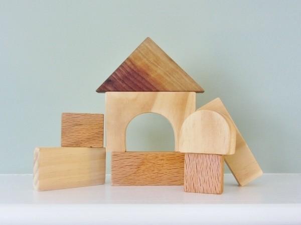 Kids natural wood blocks