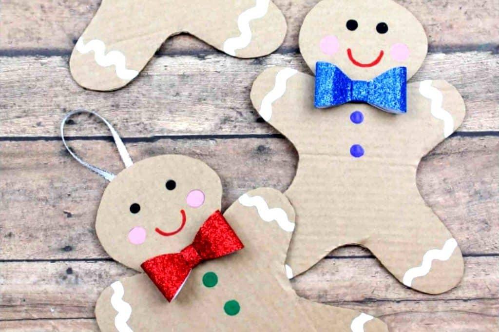 Gingerbread man craft Christmas ornaments