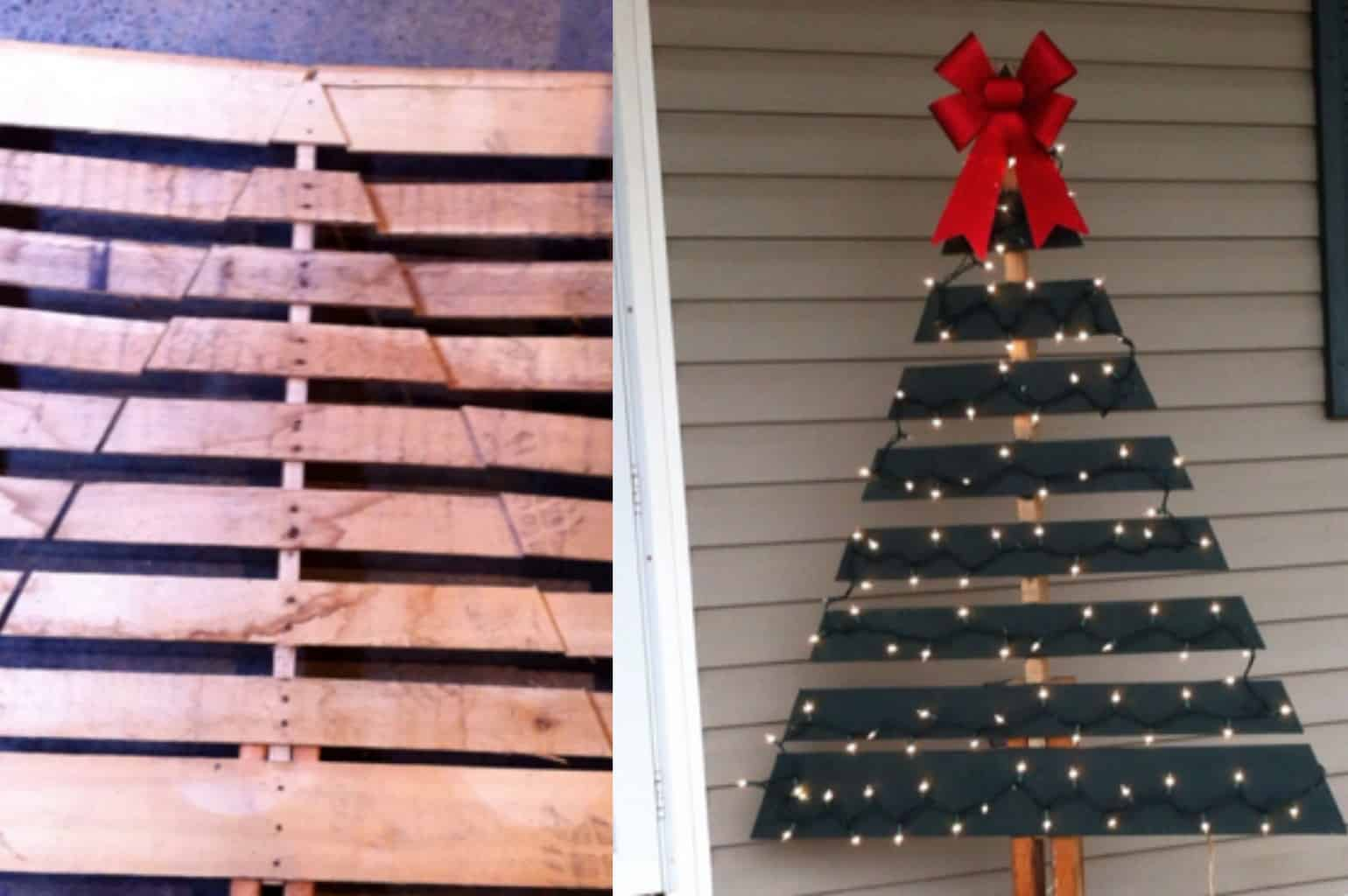 Christmas tree made of pallet wood