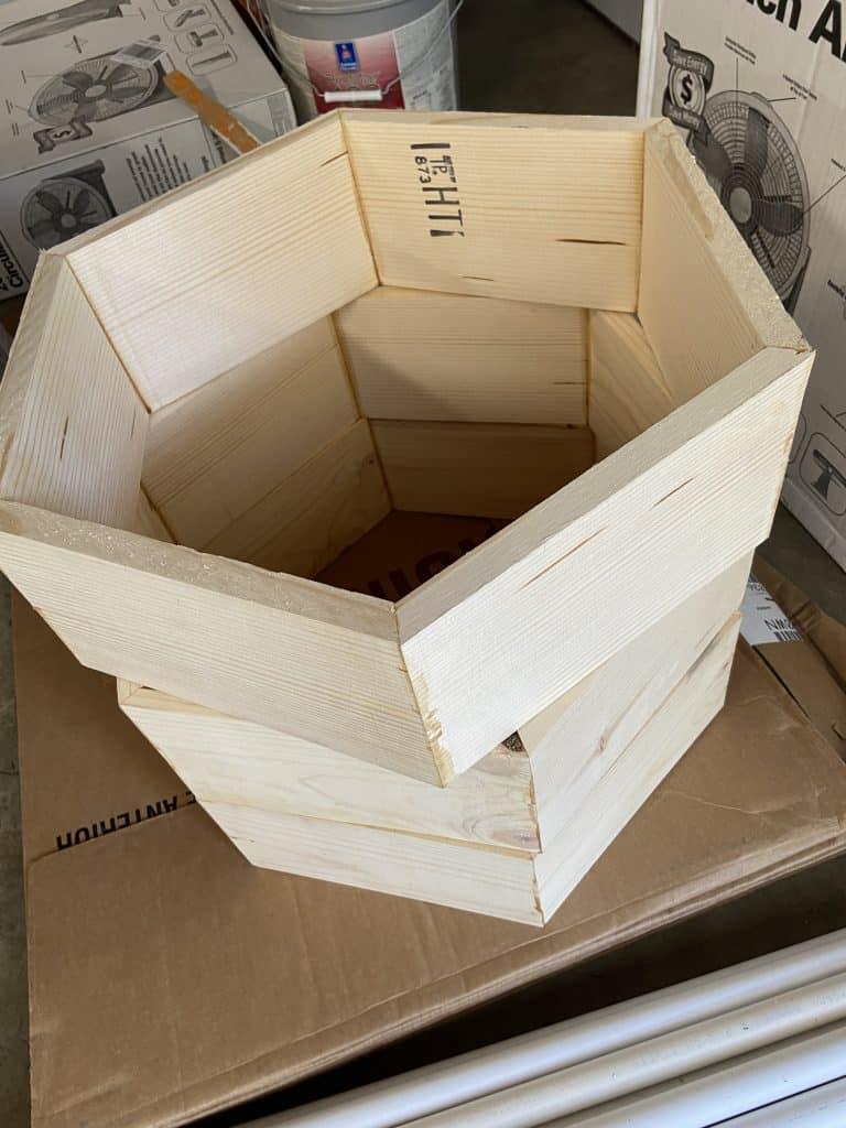 Hexagon DIY wood project