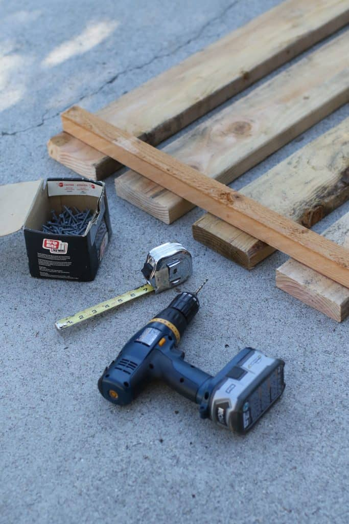 Tools and materials for building a cheap dog fence