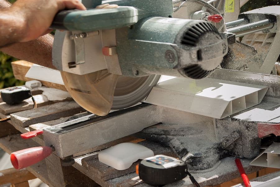 Trimming angles with compound miter saw