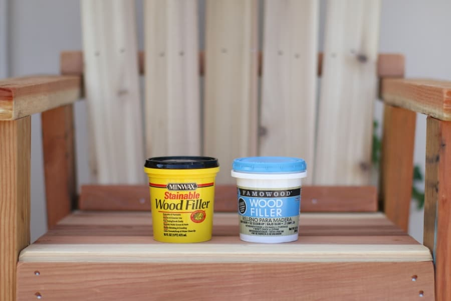 Minwax Stainable Wood Filler and Famowood Wood Filler