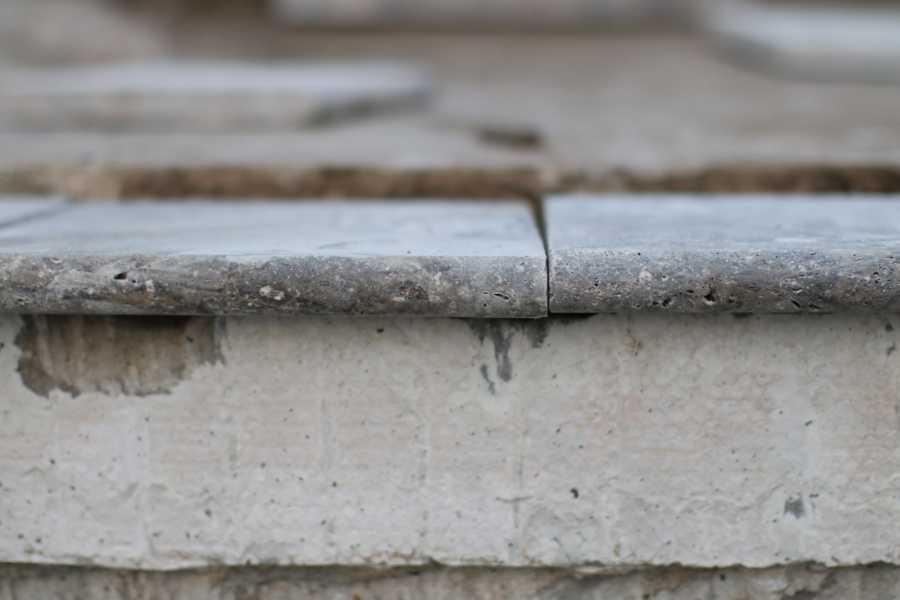Tiles arranged before installing