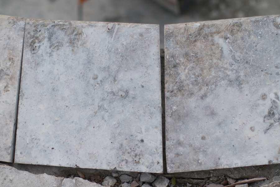 Gray tiles before installing